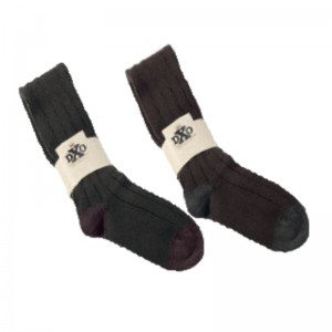 DXO 810 Deerhunter Knee Socks - 333 Green w. Burgandy Trim