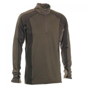 DH7554 Deerhunter Greenock Underwear Shirt with Zip Neck - 381 Fallen Leaf