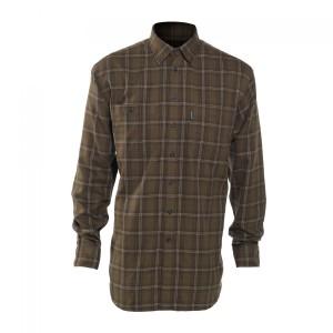 DH8677 Deerhunter Bennett Shirt with Bamboo - 399 Green Check