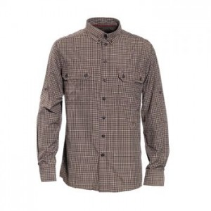 DH8826 Deerhunter Tucker Bamboo Shirt Long Sleeve - 399 Green Check