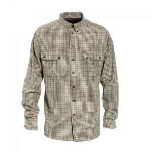 DH8827 Deerhunter Terrence Bamboo Shirt Long Sleeve - 399 Green Check