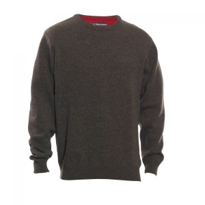 DH8840 Deerhunter Hastings Knit O-neck - 383 Dark Elm