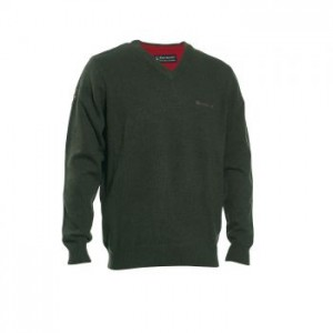 DH8841 Deerhunter Hastings Knit V-neck - 331 Green