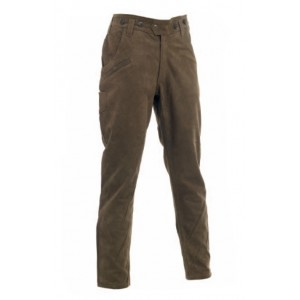 3031 Deerhunter Strasbourg Leather Boot Trousers - Brown
