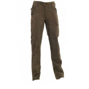 DH3032 Deerhunter Strasbourg Leather Trousers - Brown