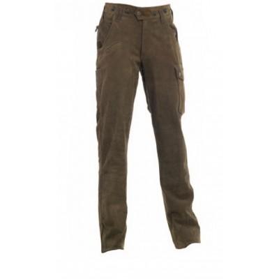 DH3032 Deerhunter Strasbourg Leather Trousers - Brown