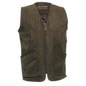 DH4031 Deerhunter Strasbourg Leather Waistcoat - Brown