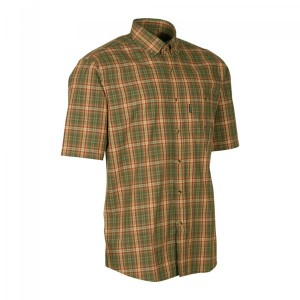 DH8094 Deerhunter Mitchell Shirt S/S -499 Red Check