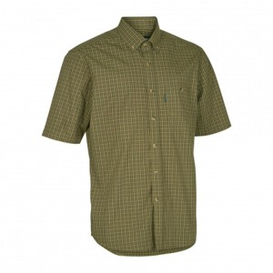 DH8095 Deerhunter Nikhil Shirt S/S - 399 Green Check