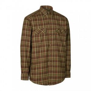DH8492 Deerhunter Milo Shirt w. Fibre Pile Lining - 399 Green Check