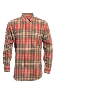 DH8664 Deerhunter Dylan Shirt w. Sleeve Patch - Red Check