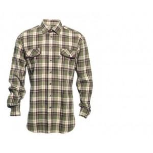 DH8666 Deerhunter Paxton Shirt w. Suede Details - Brown Check
