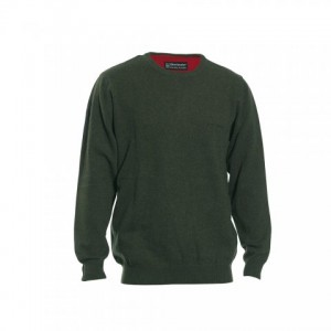 DH8830 Deerhunter Brighton Knit w. O-neck - Green