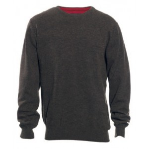 DH8830 Deerhunter Brighton Knit w. O-neck - Dark Elm