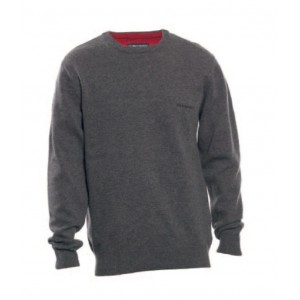 DH8830 Deerhunter Brighton Knit w. O-neck - Taupe Grey