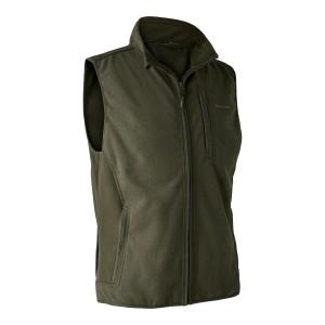 DH4515 Deerhunter Gamekeeper Bonded Fleece Waistcoat - 371 Graphite Green