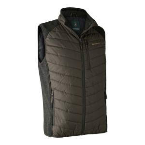 DH4572 Moor Padded Waistcoat w. Knit - 393 Timber