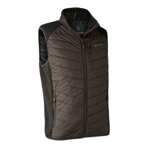 DH4572 Moor Padded Waistcoat w. Knit - 571 Brown Leaf