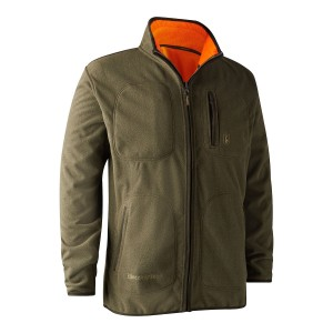 5526 Gamekeeper Bonded Fleece Jacket - reversible / 669 Orange