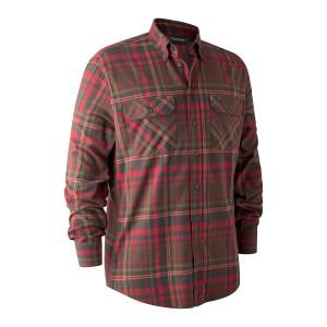 8187  Marvin Shirt - 48187 Red Check / 68187 Orange Check