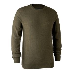 8348  Kingston Knit with O-neck - 346 Cypress / 356 Green Melange / 383 Dark Elm / 441 Red / 471 Burgundy / 649 Golden Oak / 786 Dark Blue