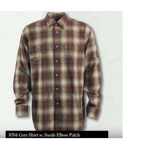8704 - Cory Shirt - 551 Brown Check