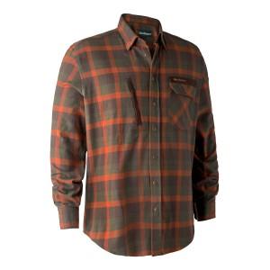 8933  Ethan Shirt - 68933 Orange Check