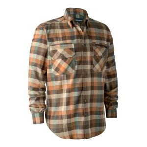 8934  James Shirt - 58934 Brown Check