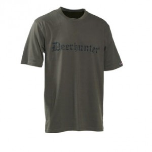 DH8838 Deerhunter Logo T-Shirt (s/s) w. DEERHUNTER - 378 Bark Green