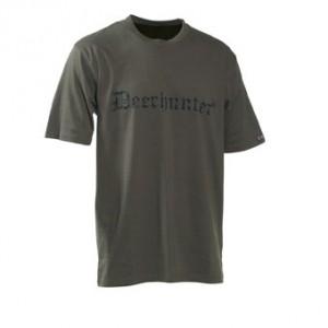 DH8838 Deerhunter Logo T-Shirt (s/s) w. DEERHUNTER - 378 Bark Green