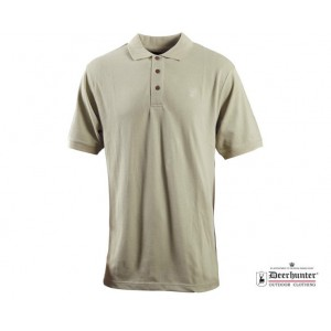DH8656 Deerhunter Berkeley Polo Shirt - True Beige